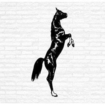 Horse Equestrian Riding Man Cave Animal Rustic Cabin Lodge Mountains Hunting Vinyl Wall Art Sticker Decal Graphic Home Decor
