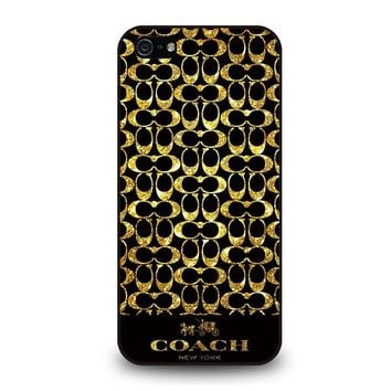 COACH NEW YORK GOLD iPhone 5 / 5S / SE Case Cover