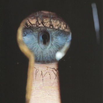 vintage skeleton key eye in keyhole litho artist irving penn print photograph color image photo wall hanging home decor picture abstract old