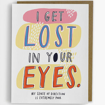 I Get Lost In Your Eyes Love Card 223-C