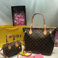 Year-End Promotion 3 Pcs Of Bags Combination (LV Bag ,LV Mid Bag ,YSL Wallet) Colorful
