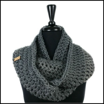 Charcoal Chunky Infinity Scarf