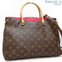 Auth LOUISVUITTON Monogramu Pallas Hand bag Shoulder tote bag Tote bag M41147