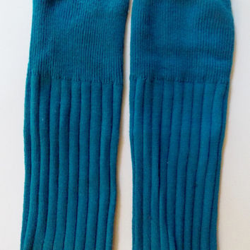 Teal Ribbed Leg Warmers for baby, solid teal leg warmers, GENDER NEUTRAL, UNISEX, unique and hipster trendy baby!  One of a kind!