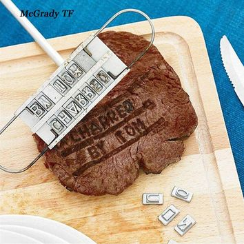 Personalized Branding Iron With Changeable Letters BBQ Tool