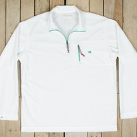 Southern Marsh FieldTec Dune 1/4 Zip Fleece Pullover- White