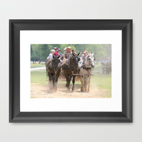 Wagons Roll Framed Art Print by Veronica Ventress