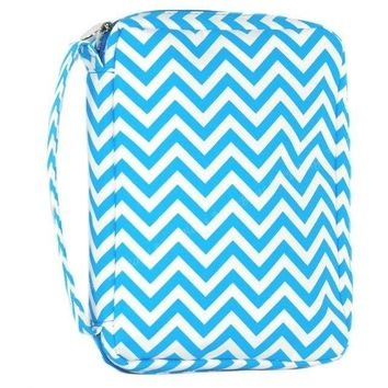 Teal Chevron Bible Cover