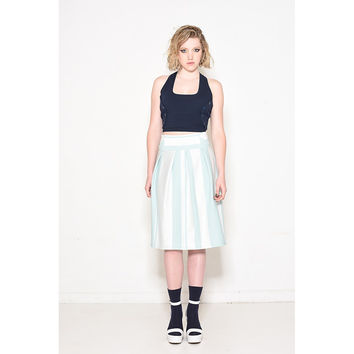 Aqua Blue Striped Skirt