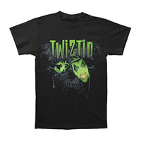 Twiztid Men's  Green Face Logo T-shirt Black