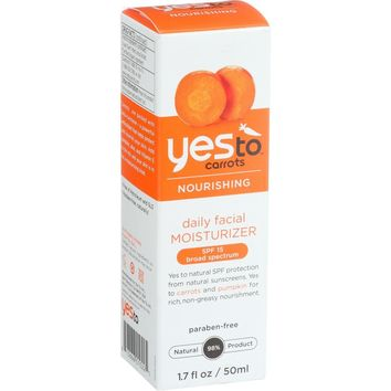 Yes To Carrots Moisturizer - Daily Facial - Nourishing - Spf 15 - 1.7 Oz
