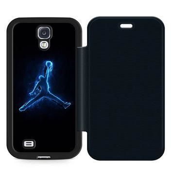 Basketball Air Jordan Leather Wallet Flip Case Samsung Galaxy S4