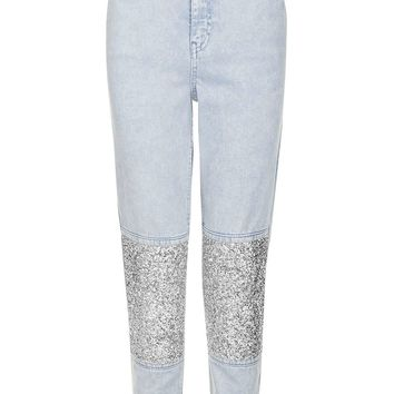 MOTO Limited Edition Stone Encrusted Mom Jeans | Topshop