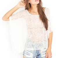Lace Cape Top in  Sale at Nasty Gal