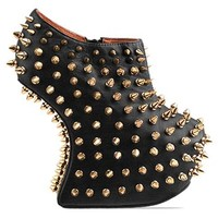 Jeffrey Campbell Shadow Stud Gold in Black Gold at Solestruck.com