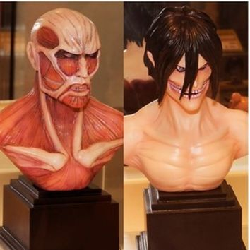 Sega Attack on Titan Shingeki no Kyojin BUST FIGURE SET Rogue & Colossal Titan
