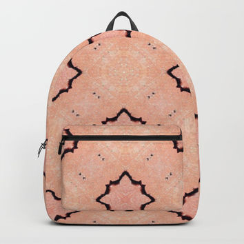 Peach Pattern Texture Design Backpack by Sheila Wenzel