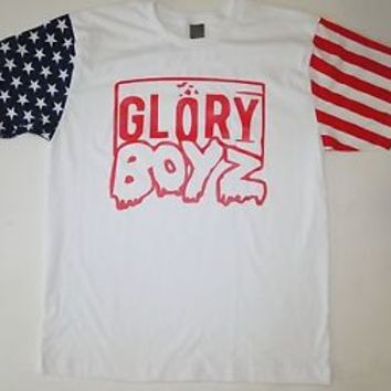 Glory Boyz 3Hunna Red American Flag T-Shirt Chief Keef GBE 300 Bang Bang