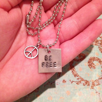Be Free & Peace charm Necklace