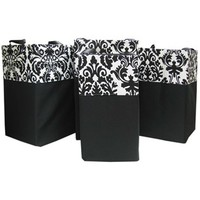 Black & White Flourish Canvas Laundry Baskets | Shop Hobby Lobby