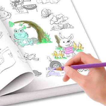 New 6000 Animal /Fruit / vegetable / plant Cartoon Baby Drawing Book