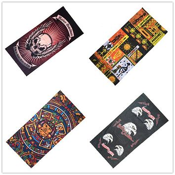 2017 New Harley Herald Scarf Riding Bicycle Motorcycle Bandana Eagle Egyptian Skull Variety Turban Magic Headband Veil Scarves