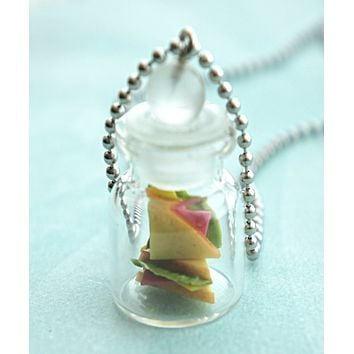 Sandwiches in a Jar Necklace