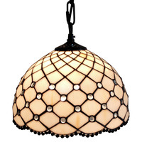 Jewel Tiffany Style Hanging Lamp 12 In