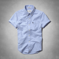 solid button-down shirt