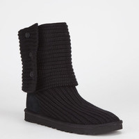 Ugg Classic Cardy Womens Boots Black  In Sizes
