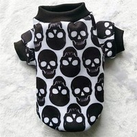 Skull Dog Hoodie Autumn Winter Dog Clothes for Small Dog 3 Styles