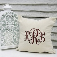 Monogram Pillow Case Family Name Sign Pillowcase Personalized Wedding Gifts Home Decor Bedroom V1