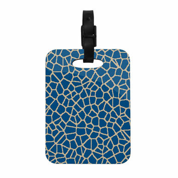 "Trebam ""Staklo IV"" Blue Brown Decorative Luggage Tag"