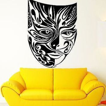 Wall Stickers Vinyl Decal Mask Masquerade Theatre Arts Pattern Theatre Unique Gift (ig1767)