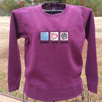 Embroidered Womens Sweatshirt - Small