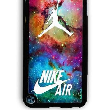 IPod 5 Case - Hard (PC) Cover with Galaxy Nike Jordan Plastic Case Design