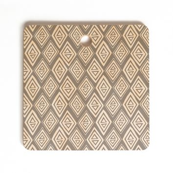 Heather Dutton Diamond In The Rough Grey Cutting Board Square