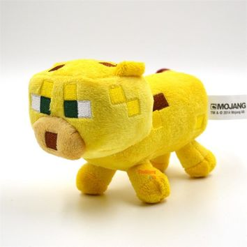 Big size High Quality Minecraft Stuffed Plush Toys Minecraft Ocelot Animal Plush Toys yellow 24CM/36cm for Kids Plush Toys Dolls