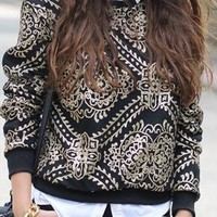 sequined sweatershir jumper from mancphoebe