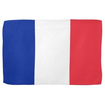 Kitchen towel with Flag of France