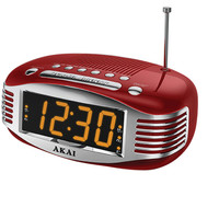 Akai Retro-style Am And Fm Dual Alarm Clock Radio