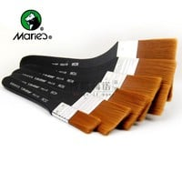 Marie's Nylon Flat Head Scrubbing Painting Brush Gouache Acrylic Painting Brush Oil Paint Wall Painting Brush Art Supplies