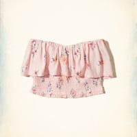 Girls Smocked Ruffle Crop Tube Top | Girls New Arrivals | HollisterCo.com