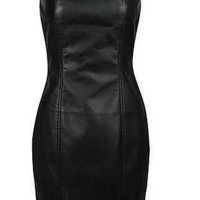 Leather Sweetheart Dress