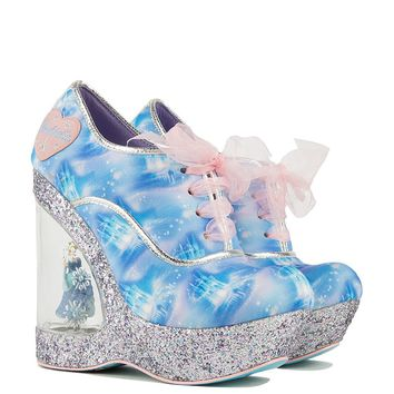 Irregular Choice Cinderella Collection Wedge in Blue