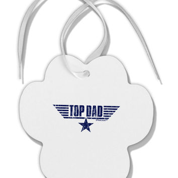 Top Dad Father's Day Paw Print Shaped Ornament