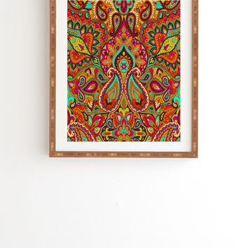 Aimee St Hill Paisley Orange Framed Wall Art