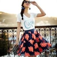 Pome Blossom Skirt by Maeve Navy 12 Skirts