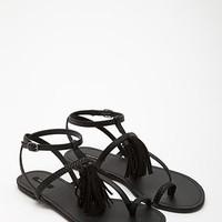 Tasseled Leather Sandals