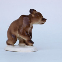 Soviet Porcelain of Lomonosov Factory LFZ  original figurine  Brown BEAR Russian USSR